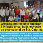 Gráficos têm reajuste superior à inflação após elevação do piso de Santa Catarina